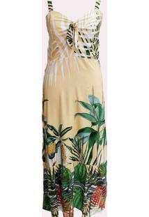Vestido Longo Almaria Plus Size Peri Estampado Ama