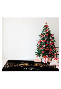 Tapete De Natal Para Sala Renas Natalinas Premium Único