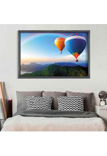Quadro Love Decor Com Moldura Arco Íris Grafitti Metalizado - Grande