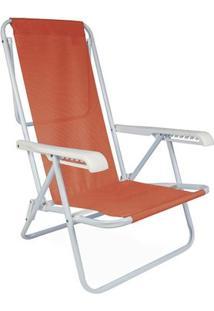 Cadeira Reclinável Aço 8 Posições - Unissex-Coral