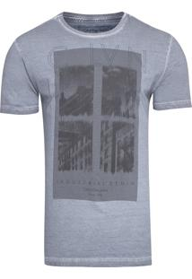 Camiseta Masculina Industrial Denim - Azul