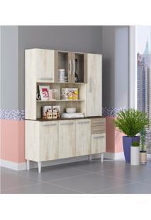 Armário De Cozinha 8 Portas 2 Gavetas 2308 Aramóveis Essence/Marrom