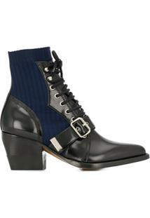 Chloé Ankle Boot Meia - Preto