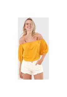 Blusa Ciganinha Colcci Lisa Amarela