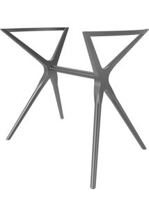 Base Para Mesa De Cozinha Retangular Baletto Platinum (56X96 Cm)