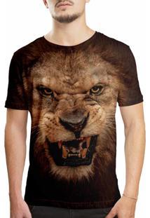 Camiseta Estampada Over Fame Leão Preta