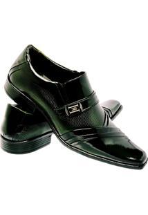 Sapato Social Gofer Estilo Italiano Em Couro Legítimo Masculino - Masculino-Verde