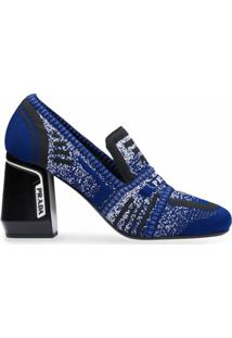 Prada Sapato De Tricô - Azul