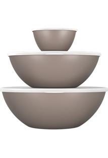 Conjunto De Saladeiras Com 3 Unidades Essential Cinza