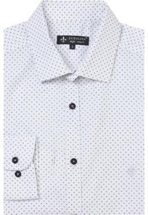 Camisa Dudalina Manga Longa Tricoline Maquinetada Estampa Geométrica Masculina (Estampado, 5)