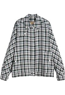 Burberry Jaqueta Harrington Xadrez Oversized - Green