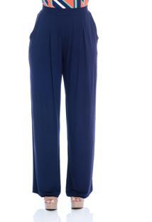 Calça B'Bonnie Pantalona Elis Azul Marinho - Tricae