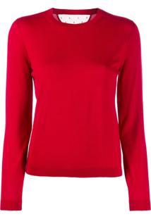 Red Valentino Blusa De Tricô Mangas Longas - Vermelho