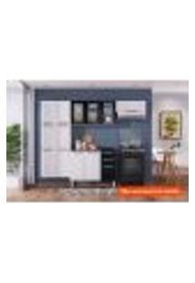 Cozinha Compacta Luce I 10 Pt Branca E Preta