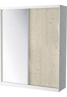 Roupeiro 771-E1 2 Portas C/ 1 Espelho - 147Cm - Marfim Areia