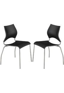 Cadeira 357 2 Peças Preto - Carraro