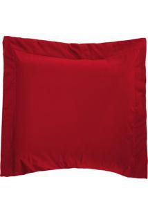 Porta Travesseiro 150 Fios Bell Vermelho Vilela Enxovais 1 Peça