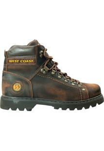 Bota Masculina West Coast Brush Off - Masculino-Marrom