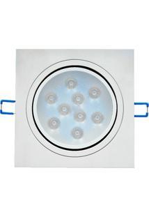 Spot Led De Embutir Mbled Quadrado 9W Bivolt 6500K Luz Branca