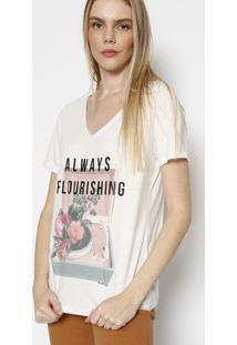"""Blusa """"Always Flourishing""""- Off White & Preta- M. Ofm. Officer"""