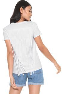 Camiseta Calvin Klein Franjas Branca