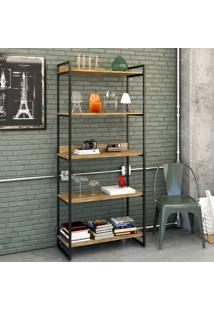 Estante Para Livros 5 Prateleiras Carvalho 8394 - Compace