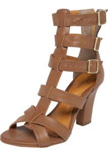 Sandália Dafiti Shoes Gladiadora Marrom