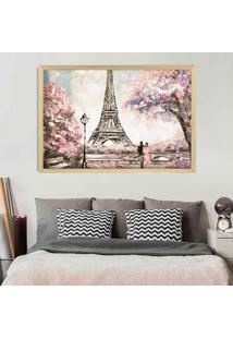 Quadro Love Decor Com Moldura Primavera Em Paris Madeira Clara Médio