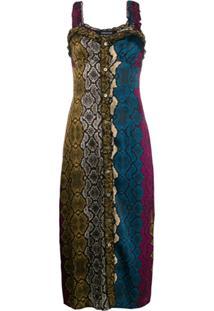 Andamane Vestido Animal Print - Marrom