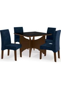 Conjunto Mesa Camomila Com 4 Cadeiras Wa