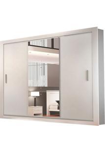 Guarda-Roupa Veneza Luxo Com Espelho - 3 Portas - Branco