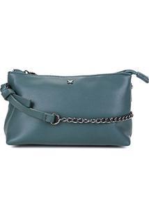 Bolsa Hering Mini Bag Alça Corrente Feminina - Feminino-Verde