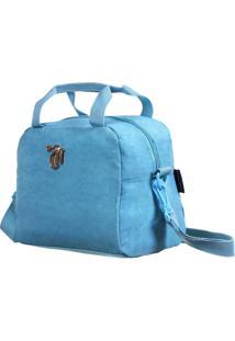 Bolsa Térmica Capricho Crinkle   Cor: Azul
