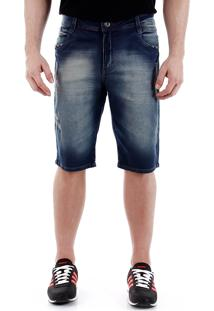 Bermuda Jeans Dirty Masculina Max Denim