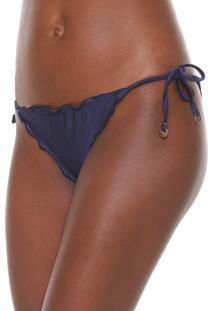 Calcinha Agua Doce String Lisa Azul-Marinho