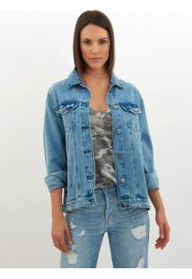 Jaqueta Le Lis Blanc Oversized Dl Destroyer Jeans Azul Feminina