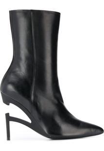 Unravel Project Ankle Boot Bico Fino - Preto