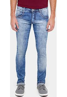 Calça Jeans Skinny Biotipo Marmorizada Elastano Masculina - Masculino