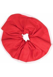 Atu Body Couture Scrunchie Com Acabamento Contrastante - Vermelho