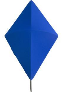 Arandela Capucheta P - Azul - Fio Cinza Claro