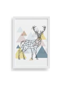 Quadro Love Decor Decorativo Com Moldura Cervo Escandinavo
