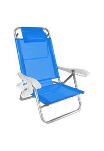 Cadeira De Alumínio Reclinável Zaka Top Line Com Assessórios