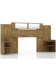 Cabeceira Panan Móveis Casal Mila Extensível Para Cama Box Com Espelho Canela