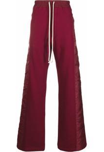 Rick Owens Drawstring Wide Leg Track Pants - Vermelho