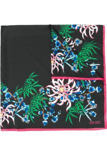 Kenzo Lenço Com Estampa Floral - Preto