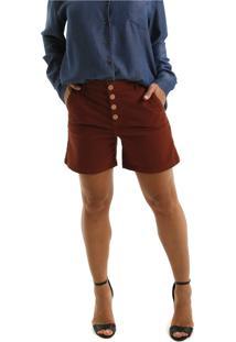 Bermuda Jeans Equivoco Hoboken Marrom