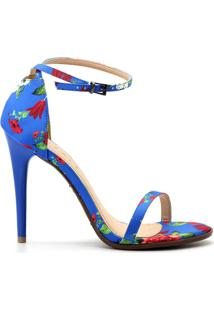 Sandália Royalz Tecido Tira Feminino - Feminino-Azul