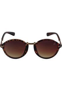 Óculos De Sol Khatto Round Johnny Feminino - Feminino-Marrom