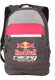 Mochila Red Bull Com Compartimento P/ Notebook 18,4L - Unissex-Chumbo