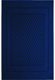 Tapete Tufting Nativa- Azul Escuro & Azul Marinho- 3Tapete Sã£O Carlos